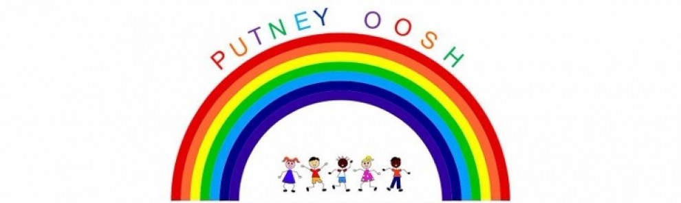 Putney OOSH logo of a rainbow with children playing underneath it.